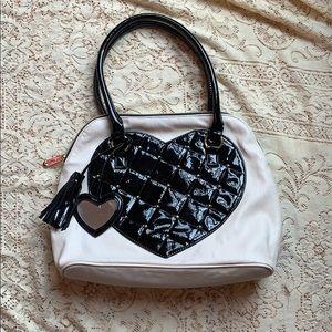 Betsey Johnson Satchel Style Handbag Heart